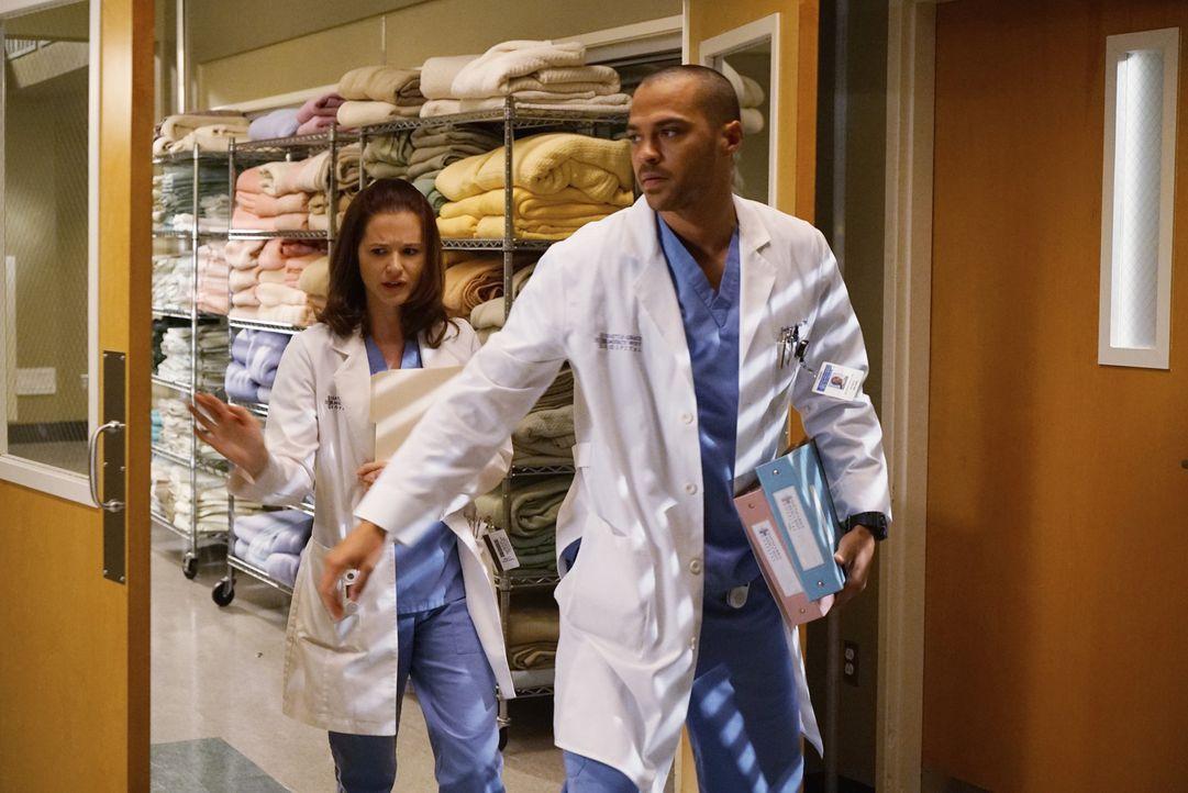 Ist die Ehe von April (Sarah Drew, l.) und Jackson (Jesse Williams, r.) vor dem Aus oder haben sie noch eine Chance auf eine glückliche gemeinsame Z... - Bildquelle: Eric McCandless ABC Studios