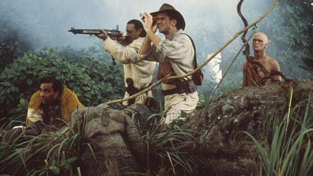 Auf der Jagd: Chuchundra (David Paul Francis), Buldeo (Gulshan Grover), Harri...