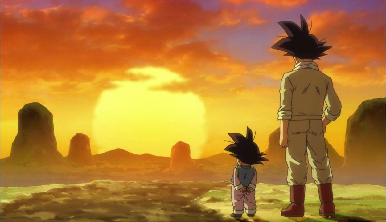 Son Goku und Son Goten beobachten den Sonnenuntergang - Bildquelle: BIRD STUDIO/SHUEISHA, TOEI ANIMATION