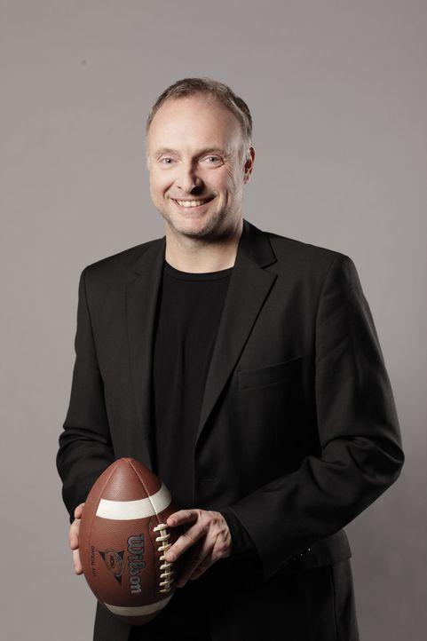 """ran an den Super Bowl XLVII: Das """"ran""""-Moderatoren-Duo Frank Buschmann (Bild) und Jan Stecker kommentieren die drei Spiele der Playoffs. - Bildquelle: Benedikt Müller SAT. 1"""