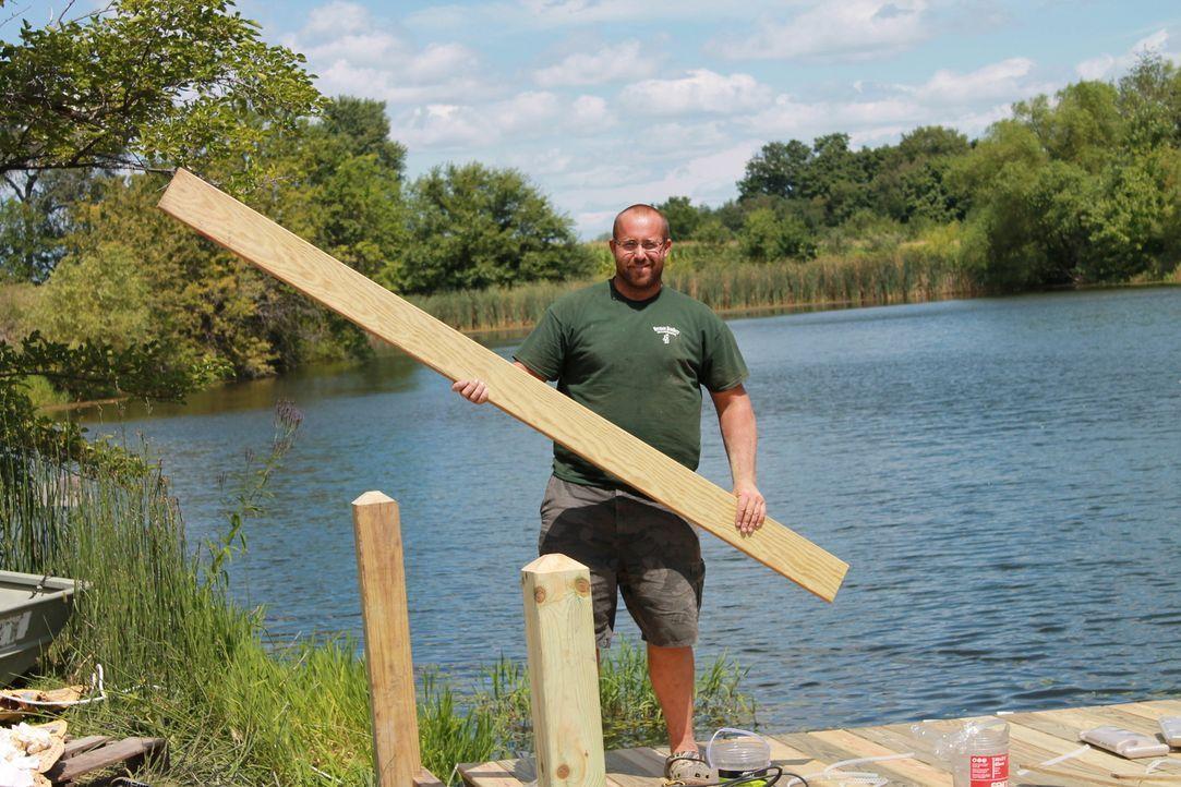 Für Herman Brother Nate und seine Crew steht ein riesen Baumhaus mit schwingenden Reifen, einer Rutsche und einer Brücke, die zu einem Aussichtspunk... - Bildquelle: 2015, DIY Network/Scripps Networks, LLC. All RIghts Reserved.