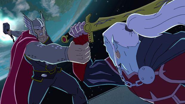 Ein Kampf zwischen Gut und Böse: Thor (l.) und Dracula (r.) ... © Marvel & Subs.