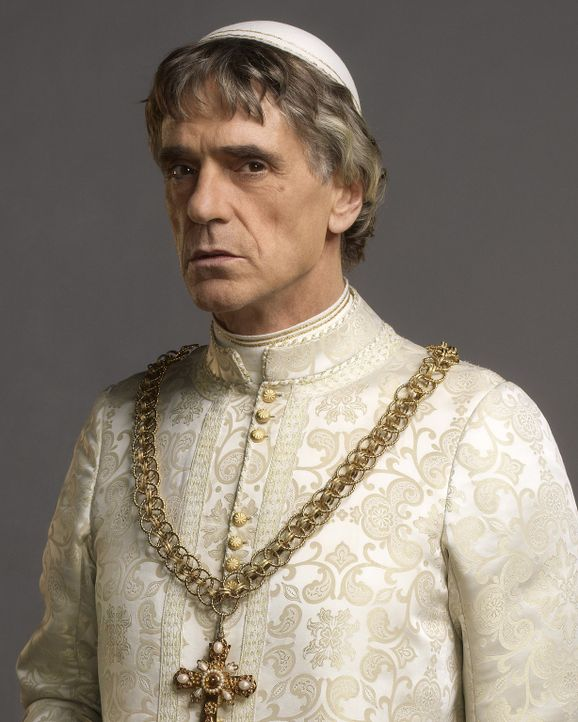 (2.Staffel) - Als Papst Alexander VI setzt Rodrigo Borgia (Jeremy Irons) alles daran, die Welt der Mächtigen nach seinen Vorstellungen zu gestalten... - Bildquelle: LB Television Productions Limited/Borgias Productions Inc./Borg Films kft/ An Ireland/Canada/Hungary Co-Production. All Rights Reserved.