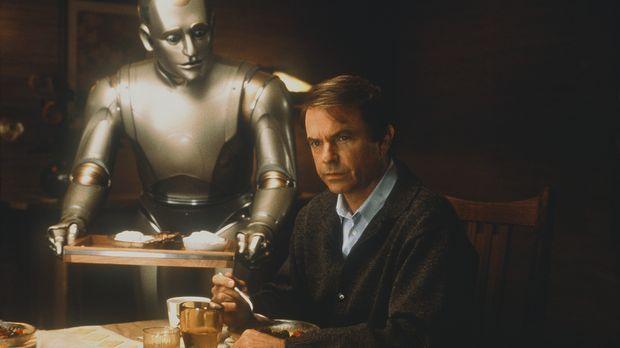 Als perfekter Hausroboter ist Andrew (Robin Williams, l.) darauf programmiert...