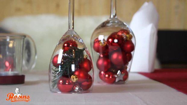 tischdeko zu weihnachten g nstig selbst basteln. Black Bedroom Furniture Sets. Home Design Ideas