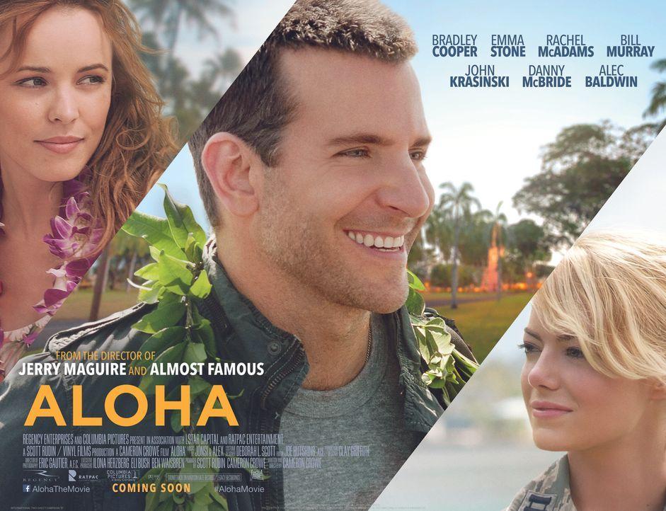 ALOHA - DIE CHANCE AUF GLÜCK - Plakat - Bildquelle: 2015 Columbia Pictures Industries, Inc. All Rights Reserved.