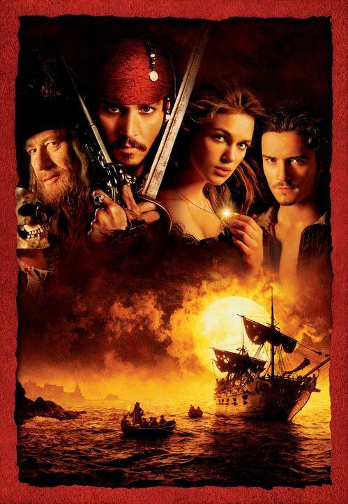 Fluch der Karibik mit (v.l.n.r.) Geoffrey Rush, Johnny Depp, Keira Knightley und Orlando Bloom ... - Bildquelle: Disney/ Jerry Bruckheimer