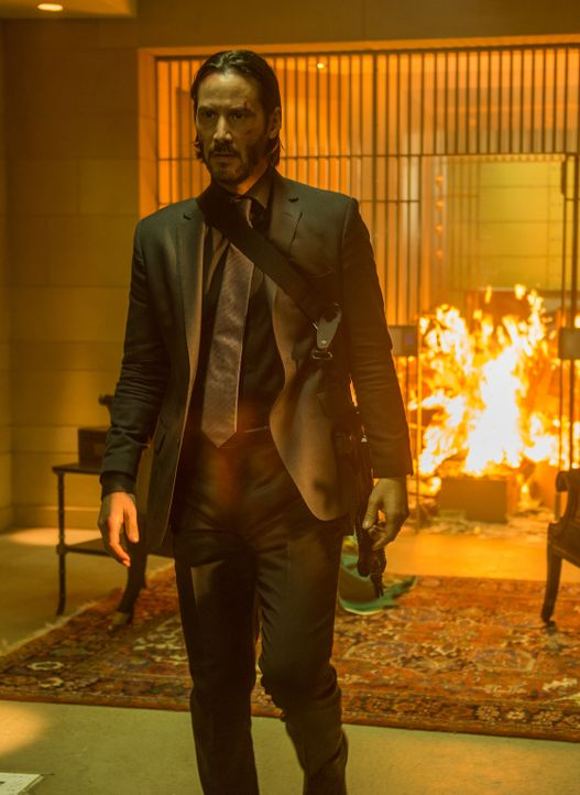 Demontiert Gangsterboss Viggo Tarasof vollständig: Auftragskiller John Wick (Keanu Reeves) auf Rachefeldzug ... - Bildquelle: 2014 SUMMIT ENTERTAINMENT, LLC. ALL RIGHTS RESERVED.