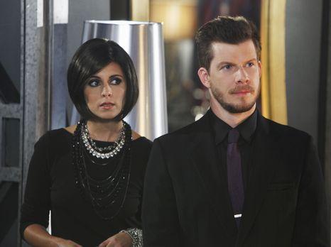 Betty gefällt es überhaupt nicht, dass Daniel (Eric Mabius, r.) seine neue be...