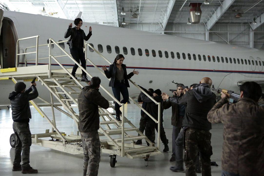 Dumm gelaufen: Auf Jane (Jaimie Alexander, oben l.) und Zapata (Audrey Esparza, oben r.) warten gewaltbereite Terroristen, die die USA und die Ameri... - Bildquelle: Warner Brothers