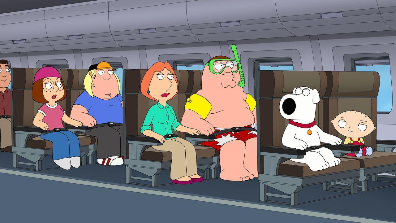 Ein ganz besonderer Urlaub wartet auf (v.l.n.r.) Megan, Chris, Lois, Peter, Brian und Stewie ... - Bildquelle: 2014 Twentieth Century Fox Film Corporation. All rights reserved.