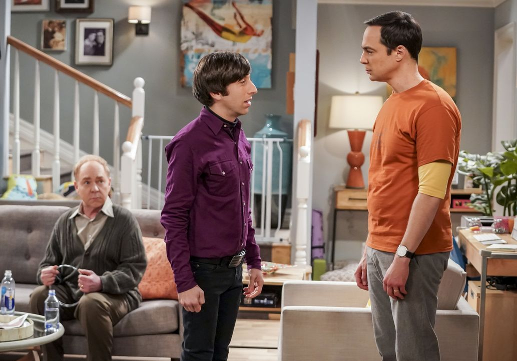(v.l.n.r.) Larry Fowler (Teller); Howard (Simon Helberg); Sheldon (Jim Parsons) - Bildquelle: Sonja Flemming 2018 CBS Broadcasting, Inc. All Rights Reserved/Sonja Flemming