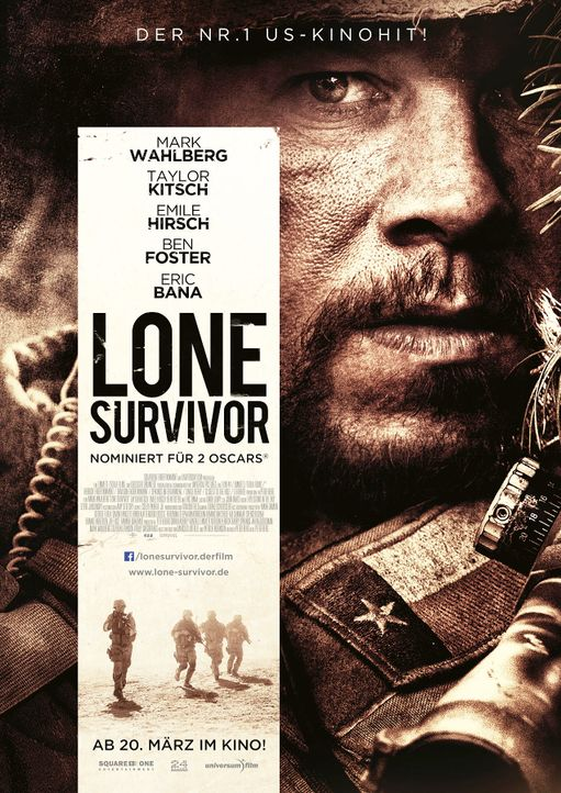 Lone-Survivor-Plakat-Universum-Film-SquareOne-Entertainment - Bildquelle: Universum Film/SquareOne Entertainment