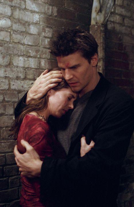 Faith (Eliza Dushku, l.) ist verzweifelt und sucht Trost bei Angel (David Boreanaz, r.). - Bildquelle: 2000 Twentieth Century Fox Film Corporation. All rights reserved.