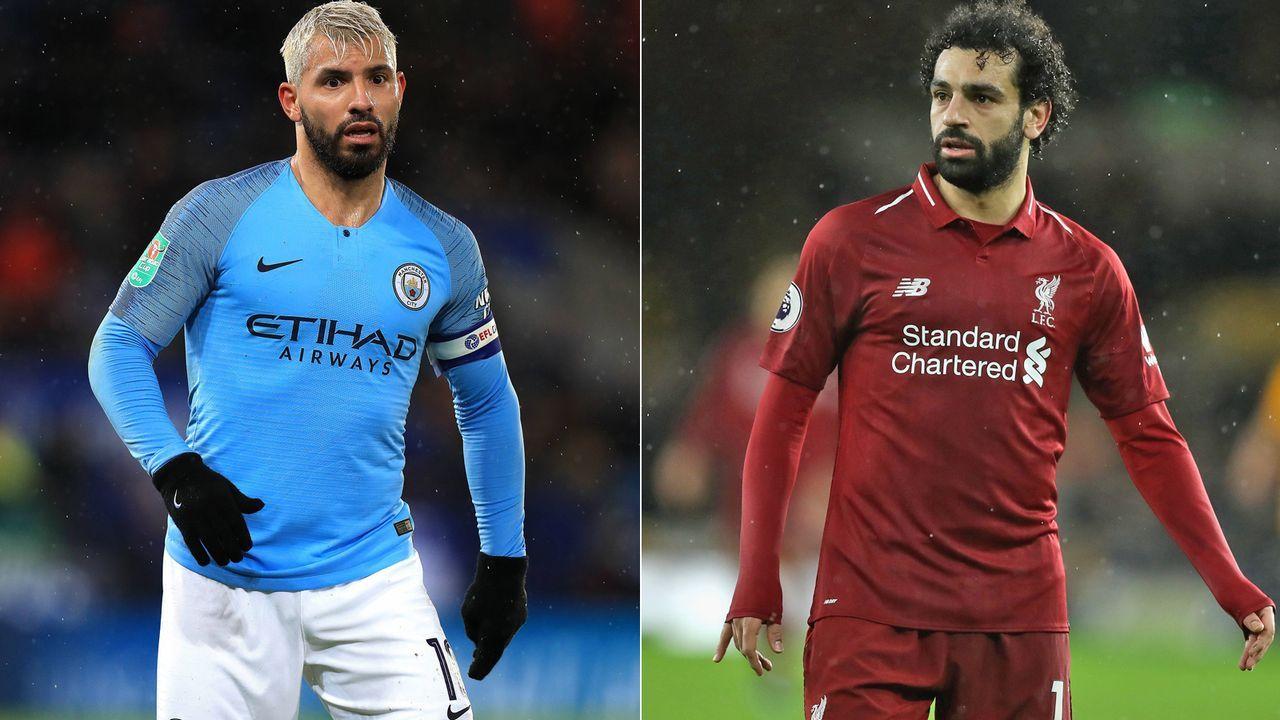 Mittelstürmer: Kun Agüero vs. Mohamed Salah - Bildquelle: Getty/Imago