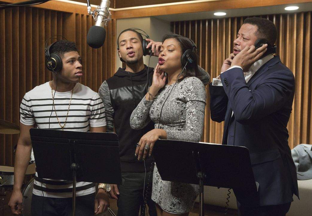 Trotz aller Meinungsverschiedenheiten kommt es zum gemeinsamen Song. Hakeem (Bryshere Y. Gray, l.), Jamal (Jussie Smollett, 2.v.l.), Cookie (Taraji... - Bildquelle: 2015 Fox and its related entities.  All rights reserved.