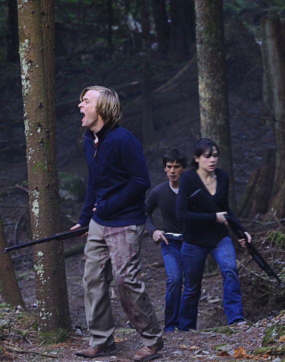 Abby (Elaine Cassidy, r.), Cal (Adam Campbell, l.) und Henry (Christopher Gorham, M.) versuchen, die verschwundene Chloe zu finden. Doch werden sie... - Bildquelle: 2009 CBS Studios Inc. All Rights Reserved.