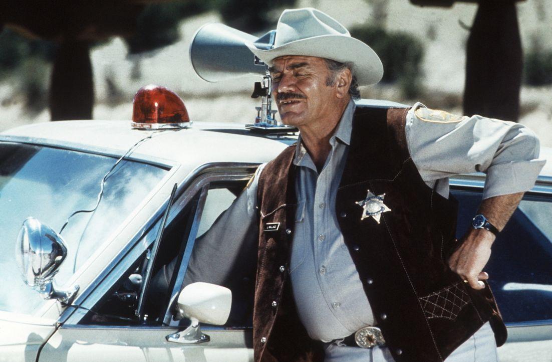 Die Polizei unternimmt alles, um den rebellischen Convoy der Trucker zu stoppen: Mit Hilfe der Nationalgarde hält Sheriff Wallace (Ernest Brognine)... - Bildquelle: Neue Constantin Film