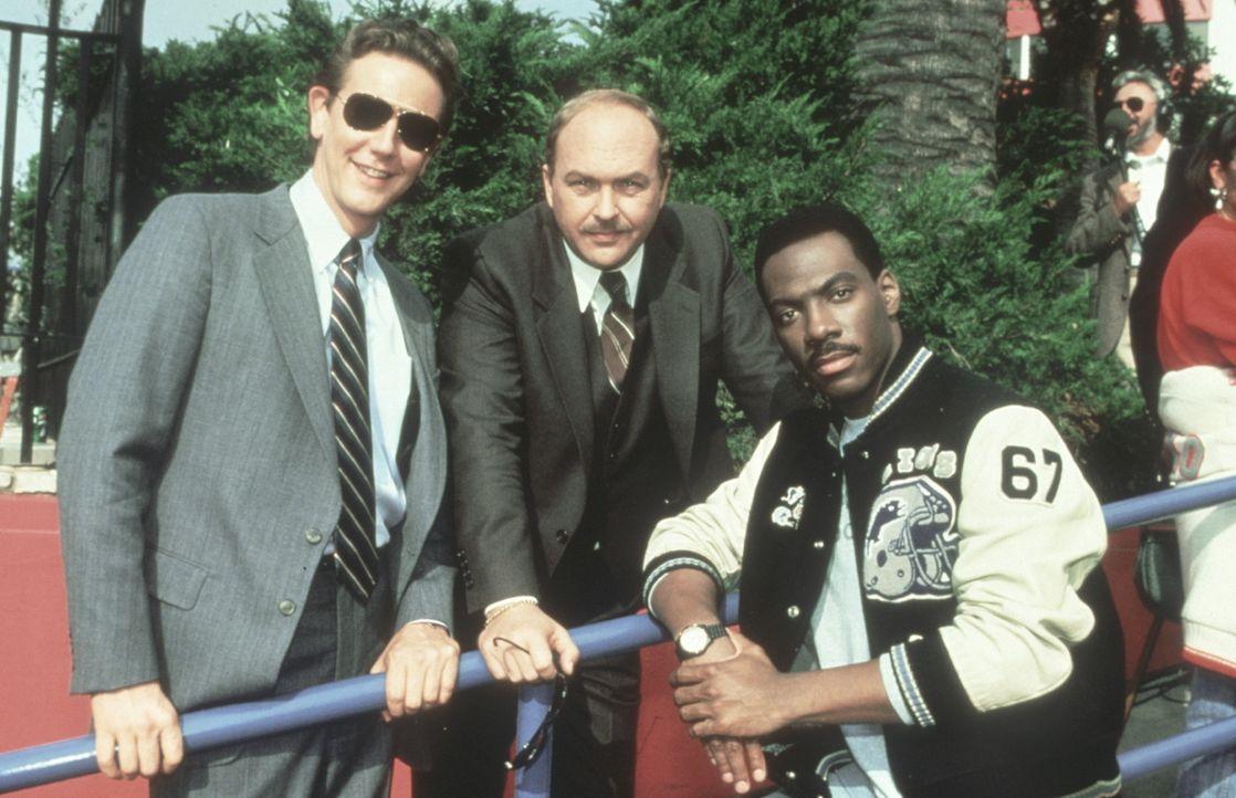 Das Beverly-Hills-Team: Rosewood (Judge Reinhold, l.), Taggart (John Ashton, M.) und Axel (Eddie Murphy, r.) ... - Bildquelle: Paramount Pictures