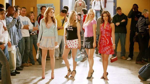 Der Zickenterror kann beginnen: (v.l.n.r.) Cady (Lindsey Lohan), Karen (Amand...