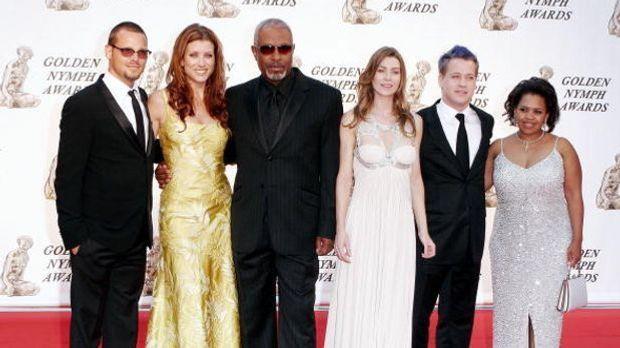 Die Hauptdarsteller auf dem roten Teppich der Golden Nymphs Awards 2006