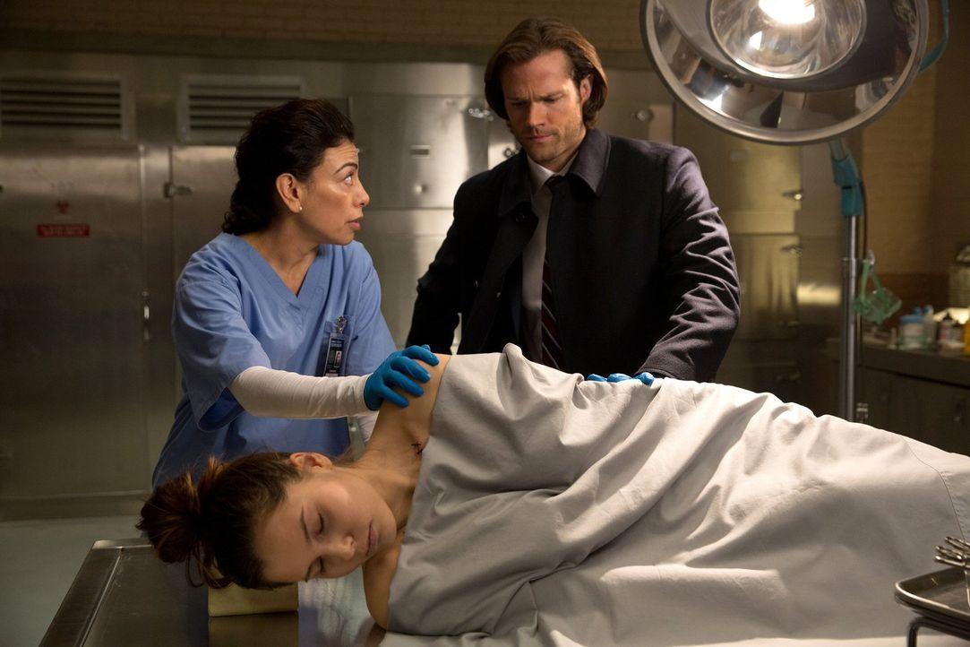 """Als die junge Staci (Zoe Fraser, vorne) am Valentinstag angeblich an einem """"gebrochenen Herzen"""" stirbt, stattet Sam (Jared Padalecki, r.) der Gerich... - Bildquelle: 2014 Warner Brothers"""