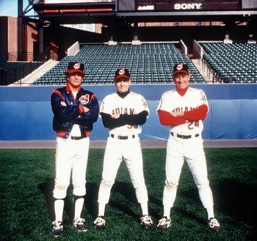 Die Indianer von Cleveland II - Rick Vaughn (Charlie Sheen, M.), Taylor (Tom...