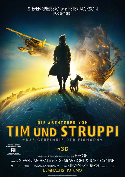 Die Abenteuer von Tim und Struppi - Plakatmotiv - Bildquelle: 2011 Columbia Pictures Industries, Inc., DW Studios L.L.C. and Hemisphere - Culver Picture Partners I, LLC. All Rights Reserved.