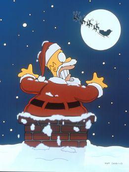 Die Simpsons - Homer nimmt einen Nebenjob als Weihnachtsmann an, damit er sei...
