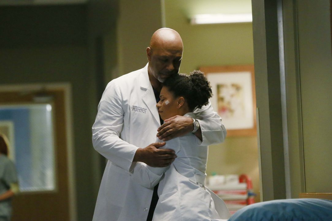 Während April und Jackson versuchen, zu ihrem normalen Leben zurückzukehren, geraten Richard (James Pickens Jr., l.) und Maggie (Kelly McCreary, r.)... - Bildquelle: ABC Studios