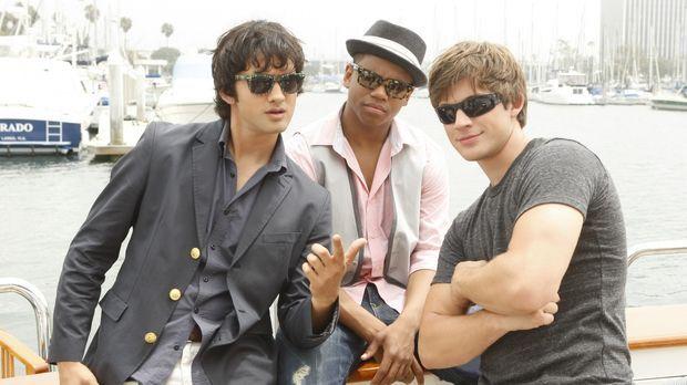 Die Party ist die perfekte Gelegenheit für Navid (Michael Steger, l.), Dixon...