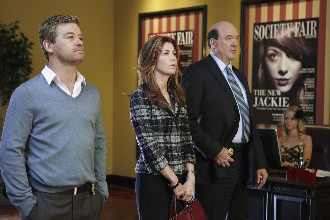 Ermitteln in einem neuen Mordfall: Megan (Dana Delany, M.), Peter (Nicholas Bishop, l.) und Bud Morris (John Carroll Lynch, r.) ... - Bildquelle: ABC Studios