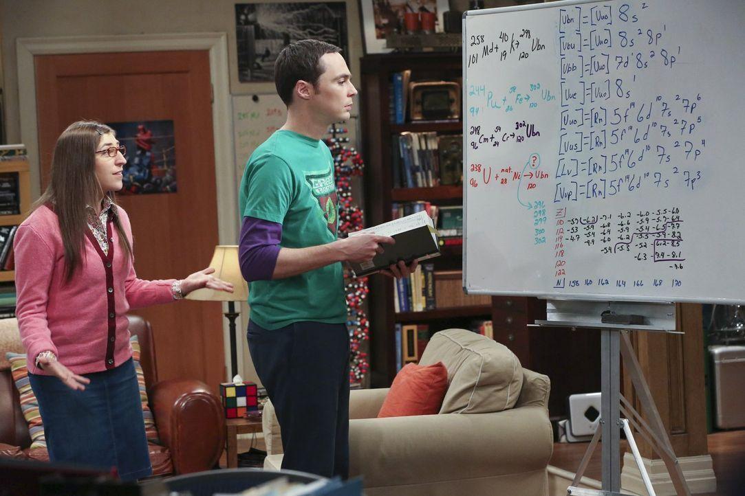 Sheldon (Jim Parsons, r.) entdeckt ein neues Element und dreht wegen des Erfolges durch. Doch dann stellt sich heraus, dass sein Fund purer Zufall w... - Bildquelle: Warner Brothers Entertainment Inc.
