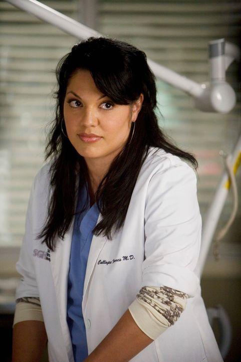 Ist besorgt, was ihr Vater zu ihrer Beziehung mit Arizona sagen wird: Callie (Sara Ramirez) ... - Bildquelle: Touchstone Television