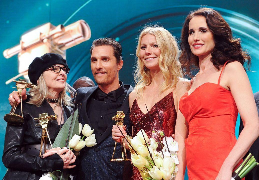 Goldene-Kamera-Diane Keaton-Matthew-McConaughey-Gwyneth-Paltrow-Andie-MacDowell-140201-dpa - Bildquelle: dpa