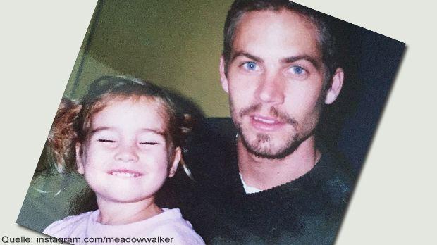 Meadow Walker mit ihrem Papa Paul Walker - Bildquelle: Instagram.com/meadowwa...