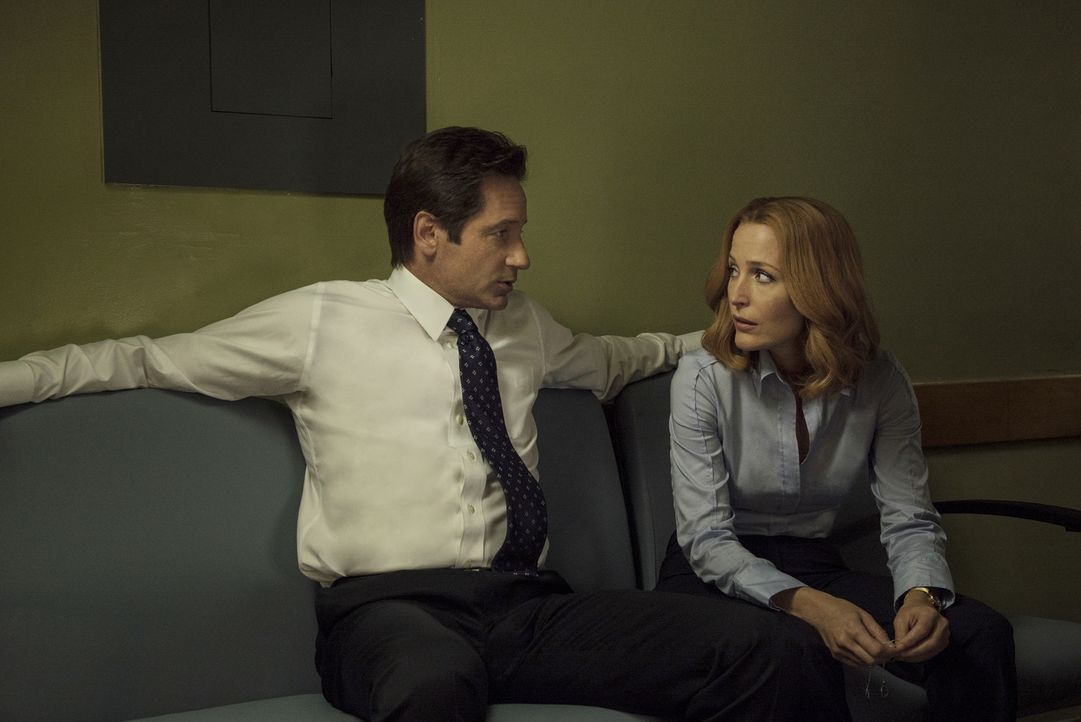 Während der Ermittlungen in einem mysteriösen Fall, müssen sich Mulder (David Duchovny, l.) und Scully (Gillian Anderson, r.) mit einer Tat aus ihre... - Bildquelle: Ed Araquel 2016 Fox and its related entities.  All rights reserved.