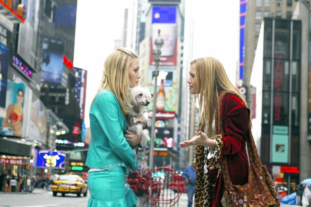 Da die Zwillinge Jane (Ashley Olsen, l.) und Roxy (Mary-Kate Olsen, r.) schon lange nichts mehr gemeinsam unternommen haben, fangen sie bereits vor... - Bildquelle: Warner Brothers International Television