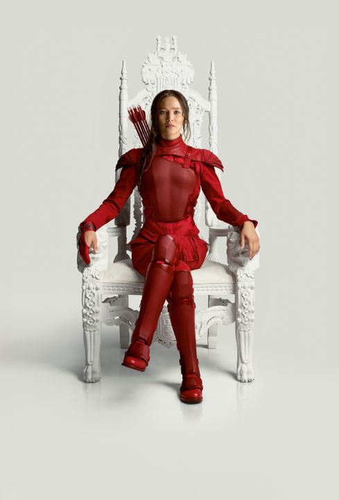 Als Symbol der Revolution tritt Katniss (Jennifer Lawrence) in die Öffentlichkeit, um im finalen Kampf gegen das Capitol alle Distrikte vereint anzu... - Bildquelle: TM &   2015 Lions Gate Entertainment Inc. All rights reserved.