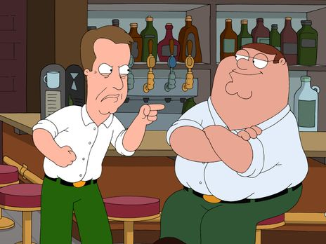 Family Guy - James Woods (l.) hat Peters (r.) Brieftasche gestohlen und gibt...