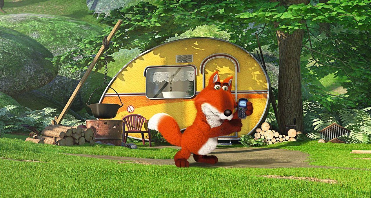 Der gemeine Fuchs (Bild) ist auf der Jagd nach dem quirligen Zweiohrküken. Können das Küken und ihr bester Freund der Keinohrhase dem bösen Fuchs en... - Bildquelle: Warner Brothers