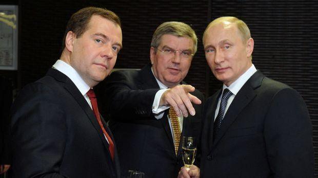 Medwedew, Bach und Putin