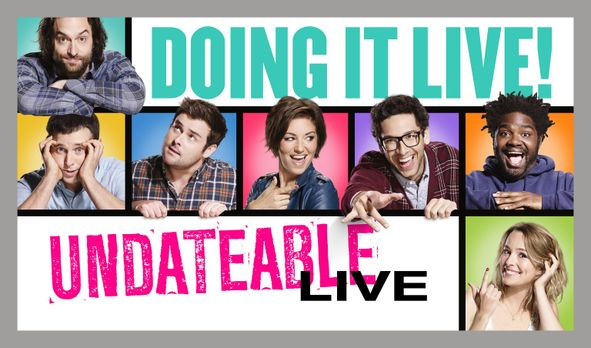 Undateable - (3. Staffel) - UNDATEABLE: Burski (Rick Glassman, 2.v.r.), Lesli...