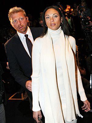 Ex-Tennisstar Boris Becker und seine Freundin Lilly Kerssenberg im Januar 2009 bei der Fashion Week in Berlin.  - Bildquelle: dpa
