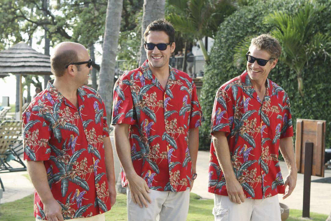 Immer für einen Spaß bereit: Grayson (Josh Hopkins, M.), Andy (Ian Gomez, l.) und Bobby (Brian Van Holt, r.) ... - Bildquelle: 2010 ABC INC.