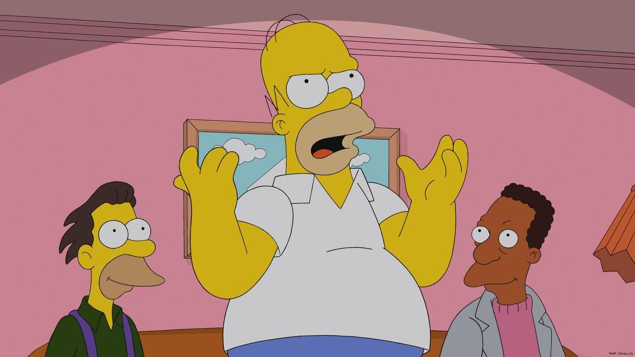 Im Kreise seiner Kollegen gibt sich Homer Simpson (M.) als Filmkenner aus ... - Bildquelle: 2013 Twentieth Century Fox Film Corporation. All rights reserved.