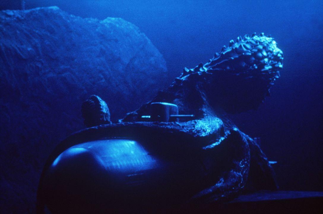 Auf der Suche nach einem schmackhaften Abendessen attackiert der mutierte Tintenfisch das U-Boot und bringt es in arge Bedrängnis ... - Bildquelle: Nu Image