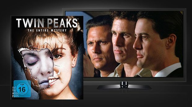 Twin Peaks - The Entire Mystery: Blu-ray Box und Szenenbild