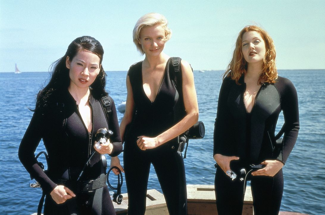 Nur noch Charlies drei außergewöhnlich attraktive, talentierte, schlagkräftige weibliche Detektive Alex (Lucy Liu, l.), Natalie (Cameron Diaz, M.... - Bildquelle: Columbia Pictures