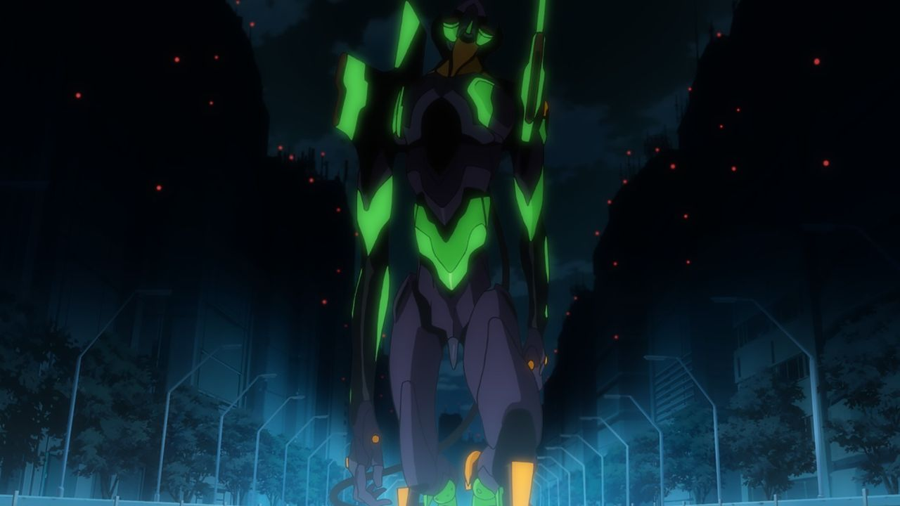 Von der großen Verantwortung vorerst entmutigt, entscheidet Shinji schließlich doch, sich seinem Schicksal zu stellen ... - Bildquelle: khara, GAINAX. All rights reserved